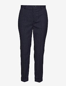 Wool-Blend Skinny Pant - LAUREN NAVY/SILK