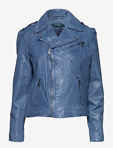 Burnished Leather Jacket - INDIGO LEATHER
