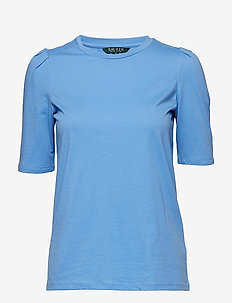 Puff-Sleeve Jersey Top - EOS BLUE