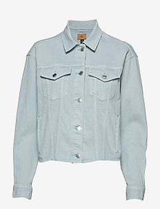 Cropped Denim Jacket - ENGLISH BLUE WASH