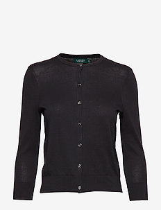 Cotton Cardigan - POLO BLACK