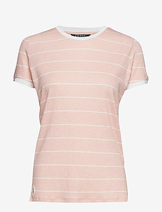 Striped Linen-Blend Tee - PRIMROSE/MASCARPO