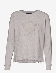 Logo French Terry Sweatshirt - PEARL GREY HEATHE