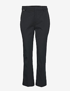 Stretch Twill Flared Pant - BLACK