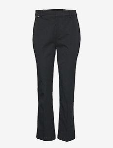 Stretch Twill Flared Pant - BLACK