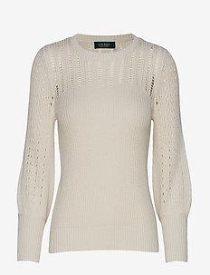 Linen-Blend Sweater - MASCARPONE CREAM