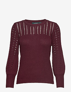 Linen-Blend Sweater - PINOT NOIR