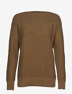 Lace-Up Cotton Sweater - EXPLORER OLIVE