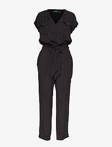 Roll-Tab-Sleeve Jumpsuit - POLO BLACK