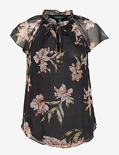 Floral Georgette Top - POLO BLACK MULTI