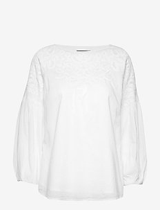 COTTON VOILE-TOP - WHITE