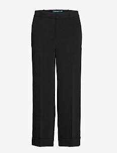 Twill Wide-Leg Pant - POLO BLACK