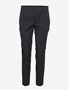 Cotton Twill Skinny Pant - BLACK