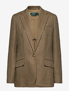 Herringbone Tweed Blazer - SAGE