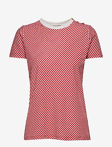 Slub-Knit Jersey Tee - CANYON RED/MASCAR