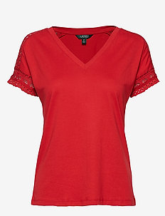 Lace-Trim Top - CANYON RED