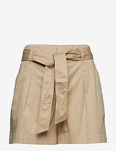 Belted Twill Short - DUNE TAN