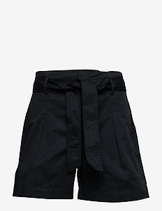Belted Twill Short - POLO BLACK