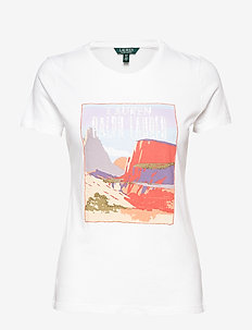 Cotton Blend Graphic T-Shirt - WHITE