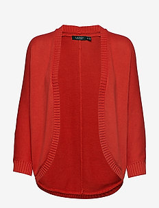 Cotton Open-Front Cardigan - CANYON RED