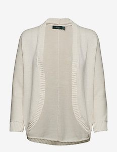 Cotton Open-Front Cardigan - MASCARPONE CREAM