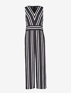 Striped Twill Jumpsuit - POLO BLACK/MASCAR