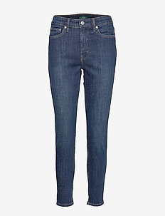 AUTH STR INDG DNM-SKINNY ANKLE - DARK WORN WASH