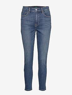 AUTH STR INDG DNM-SKINNY ANKLE - dżinsy skinny fit - dark abraded wash