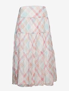 Floral Georgette Peasant Skirt - MASCARPONE CREAM
