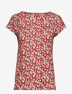 Floral-Print Cotton Top - CANYON RED/MASCAR
