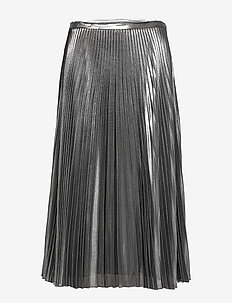 FLUID METALLIC-SKIRT - BLACK/SILVER