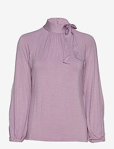 STR CHIC VIS JRSY-TOP - DUSTY LILAC