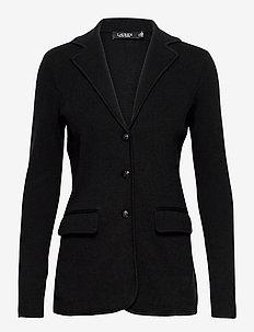 Combed Cotton Blazer - casual blazers - polo black