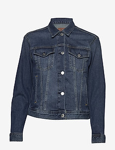 COMF STR INDGO DNM-TRUCKER JACKET - CADET BLUE WASH