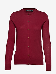 COTTON MODAL-LS CN CARDIGAN - DARK RASPBERRY