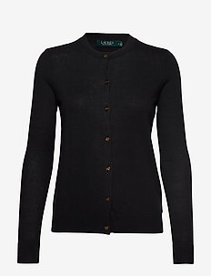 COTTON MODAL-LS CN CARDIGAN - POLO BLACK