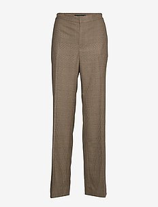 REFINED SUITING-STR-PNT - BROWN/TAN MULTI