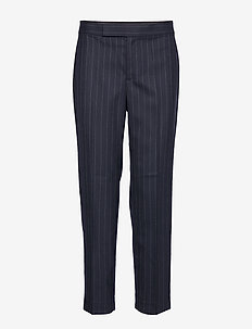 WOOL SUITING-PANT - NAVY MULTI