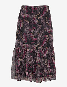 POLY CRINKLE GGT-SKIRT - POLO BLACK MULTI