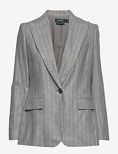 FLANNEL SUITING-JACKET - blezery - light grey multi
