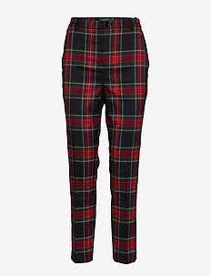 Plaid Suit Pant - POLO BLACK/RED MU