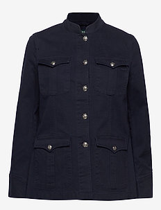STR COTTON CANVAS-JACKET - LAUREN NAVY