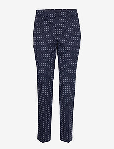 Polka-Dot Stretch Twill Pant - LAUREN NAVY/SILK