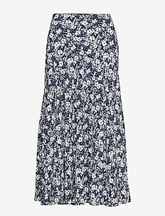 DRAPEY POLY GGT-SKIRT - LAUREN NAVY/PALE