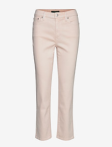 Premier Straight Ankle Jean - PEARL SHELL WASH