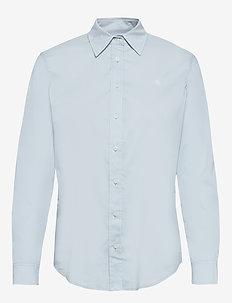 Stretch Cotton Shirt - långärmade skjortor - toile blue