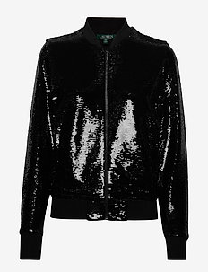 SEQUIN JERSEY-BOMBER - POLO BLACK