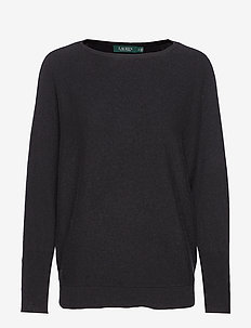 WASHABLE CASHMERE-LS BOATNK - POLO BLACK/MASCAR