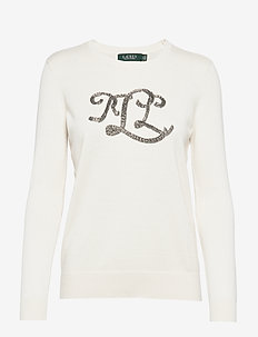 Beaded Logo Sweater - MASCARPONE CREAM