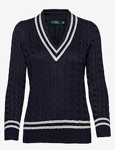 Metallic Cricket Sweater - pulls - lauren navy/silve